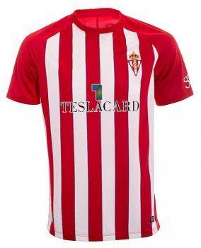Sporting Gijon 2017-18 Season Home Shirt Jersey