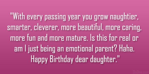 26 Loving Daughter Birthday Quotes