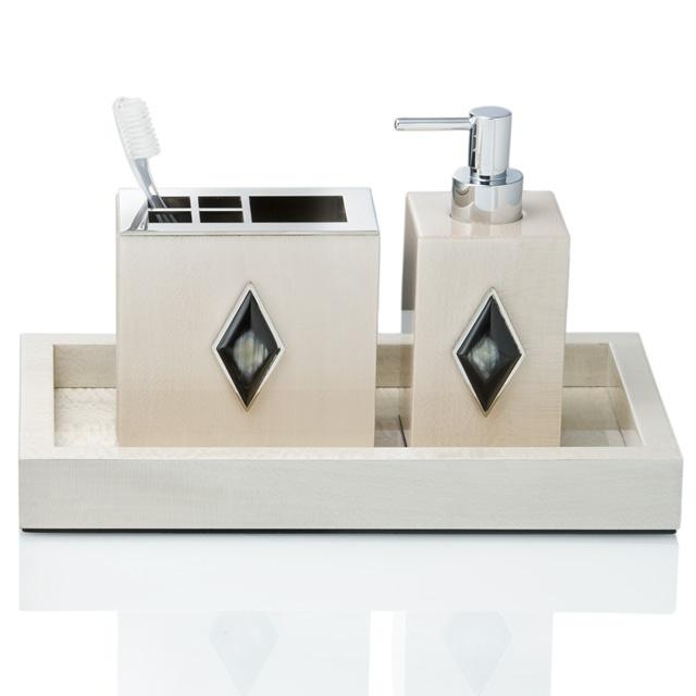 Italian Designer Chrome Ivory & Horn Bathroom Vanity Set Sharing & Inspiring Hollywood Interior Design Fans With Tips & Ideas, Courtesy of InStyle-Decor.com Beverly Hills, Enjoy