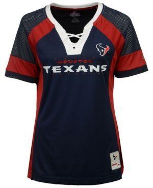 Majestic Women's Houston Texans Draft Me T-Shirt - Blue XS