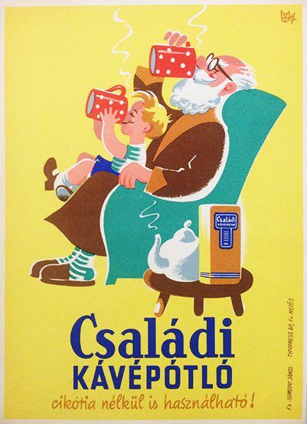 Coffee subtitute / Családi Kávépótló Artist: Macskássy János 1950s
