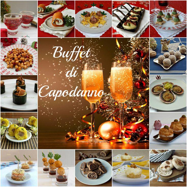 Buffet di Capodanno con ricette sfiziose da mangiare anche in piedi e senza l'utilizzo di posate. Ricette dolci e salate adatte a tutti i gusti.