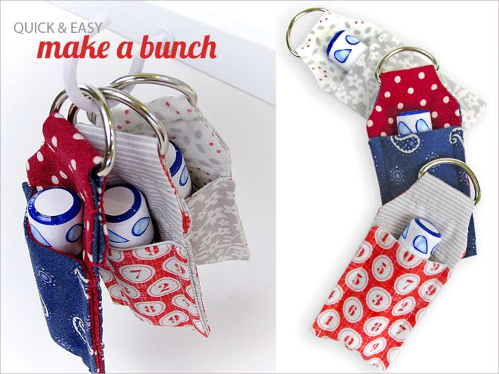 ScrapBusters: Lip Balm Key Ring Mini Case | Sew4Home