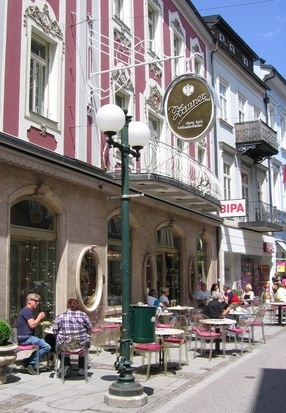Konditorei Zauner - Bad Ischl - Austria  ~  this is nice but I prefer the seating in the garden that runs along the river. So many sweet... memories here with my mom and family!!!  love, love!!
