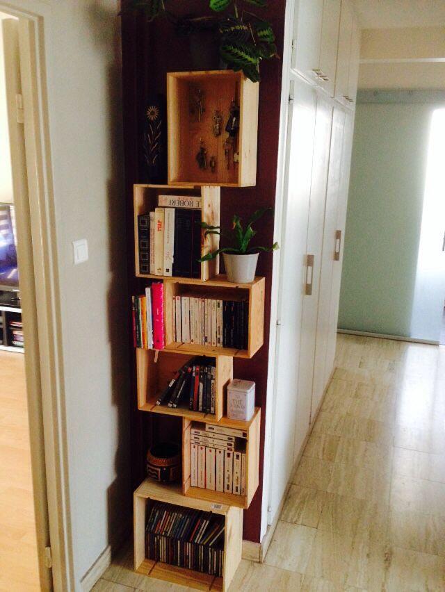 Bibliothèque Caisses À Vins