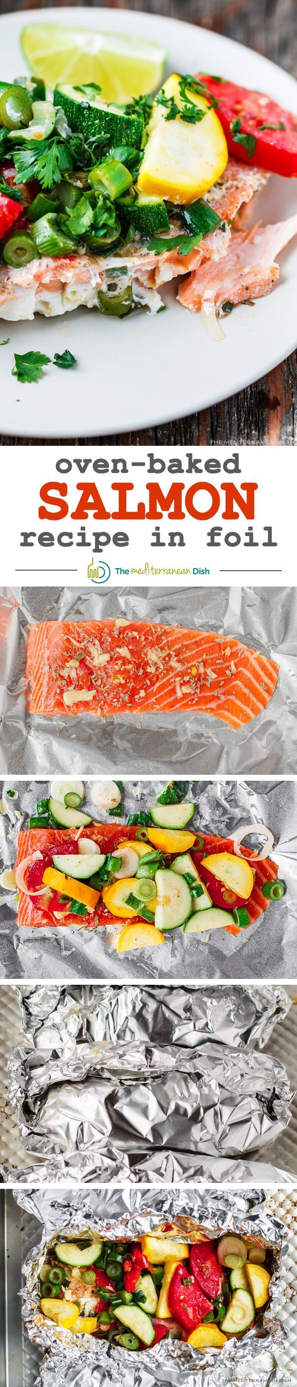 ... baked salmon in foil the mediterranean dish mediterranean salmon baked