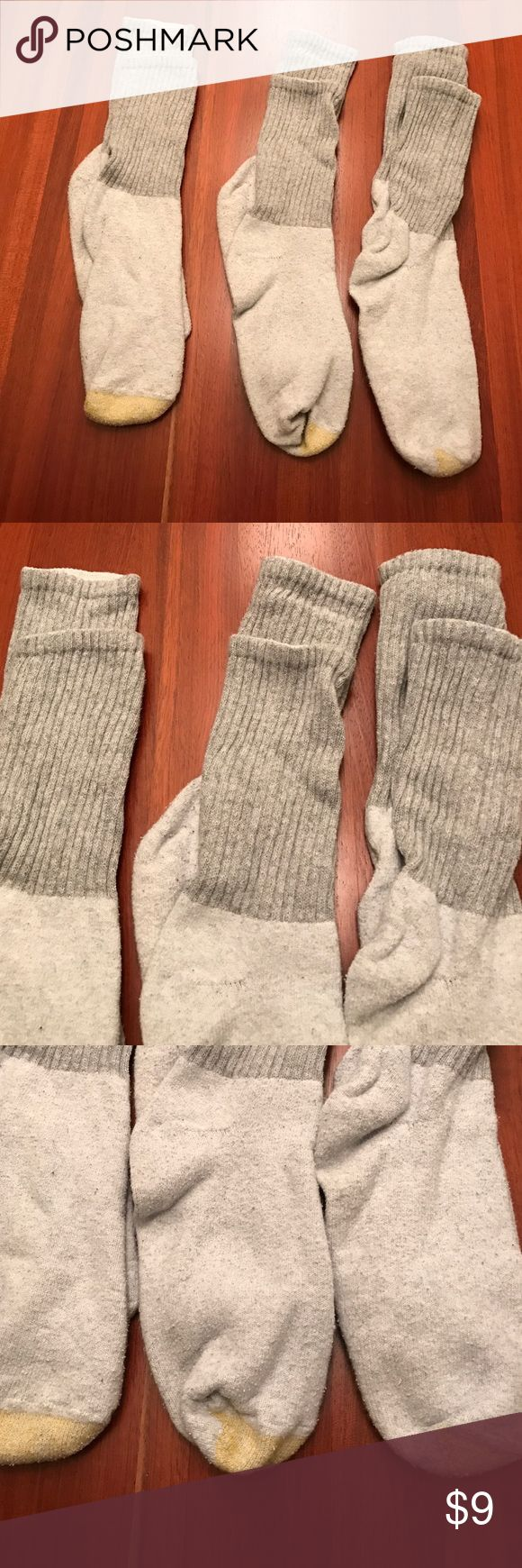 3 pairs of Gold Toe  socks (lot) Like new❗️Bought them & were a little too short for husband. Lost receipt, couldn't return. All in EUC Worn only once & washed. No holes, Rips,Stains, or defects. 100%Cotton Gold Toe Underwear & Socks Athletic Socks