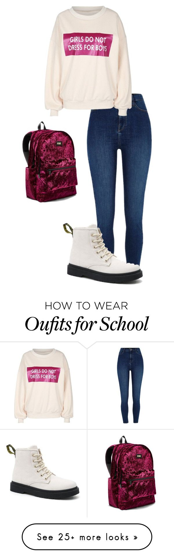 """""""Rachel at school"""" by crystalrose-014 on Polyvore featuring River Island and Victoria's Secret"""