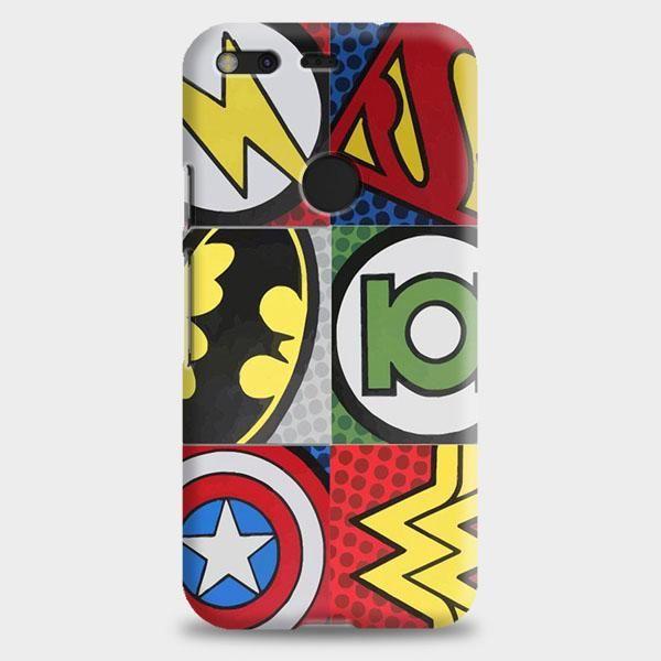 Pop Comic Super Hero Logo Google Pixel XL 2 Case   casescraft
