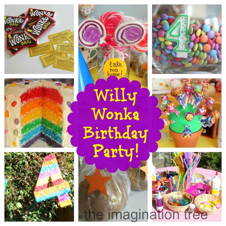 Willy Wonka Birthday Party! - The Imagination Tree..Tonsss of great birthday party themes and craft ideas for kids