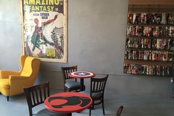 Love the table tops and yellow chair  Philly Is Home to the First Black Woman-Owned Comic Book Store