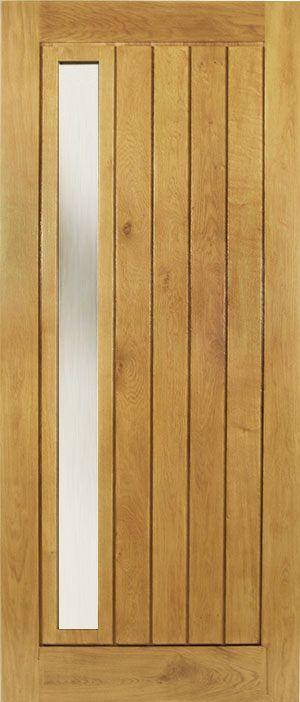£475  Contemporary External Oak Door 78x33