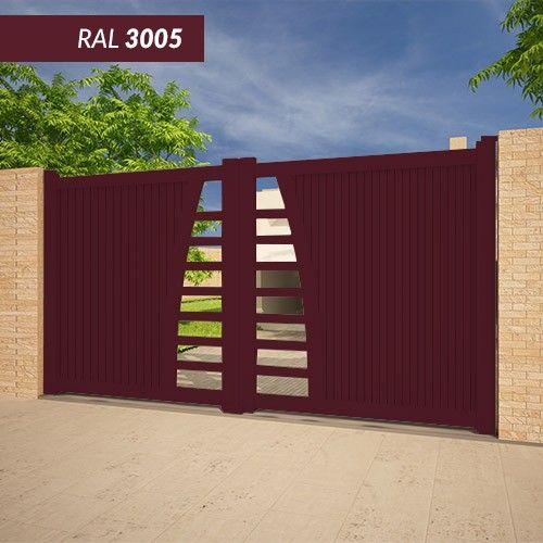 Portail EMALU HBIKI-fabrication 100% aluminium. Une gamme de couleurs disponible BLANC - GRIS ANTHRACITE - BLEU - BORDEAUX - VERT - NOIR