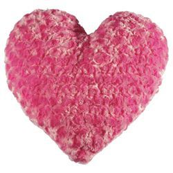 Check out Tesco Kids Rose Fur Heart Cushion, Pink from Tesco direct