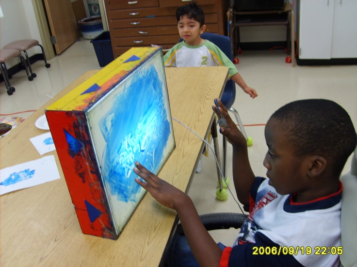 Finger Painting On The Light Table