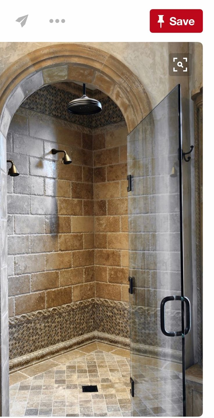 Shower Room  Beautifully Tiled Shower With Multiple Heads & Frameless  Glass Door Just Needs A Bench And Plenty Of Space For Bottles And It  Would Be