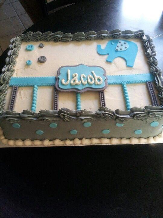Babyparty-Blatt-Kuchen   – Baby shower cake ideas