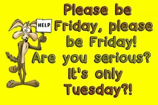 #Friday, are you serious? It's only #Tuesday!! Ugh...#humor