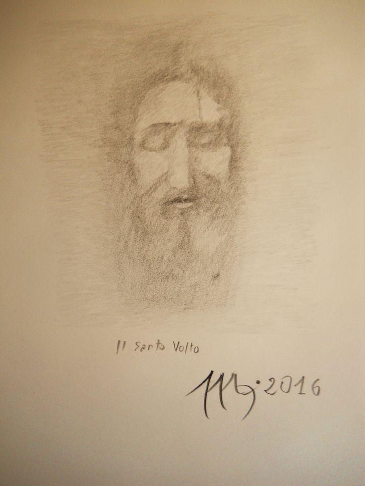 IL SANTO VOLTO   disegno matita 9B su carta Fabriano
