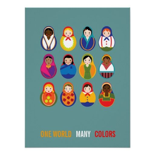 Equality >> Celebrate Culture & Diversity One World Many Color Posters from Zazzle ... | Equality Graphic ...