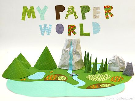 My Paper World is a special series of printable papers out of which you can create a whole world