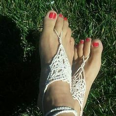 Crocheted Barefoot Sandals pattern by Anna Boyd