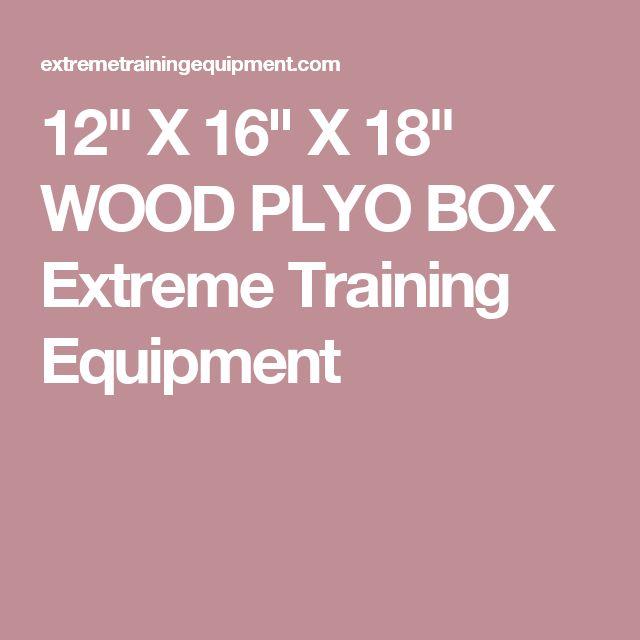 "12"" X 16"" X 18"" WOOD PLYO BOX Extreme Training Equipment"