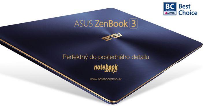 ASUS ZENBOOK 3 - Iba 950 gramový ultrabook s hrúbkou 11,9mm s celokovovým telom s ikonickým brúseným povrchom.