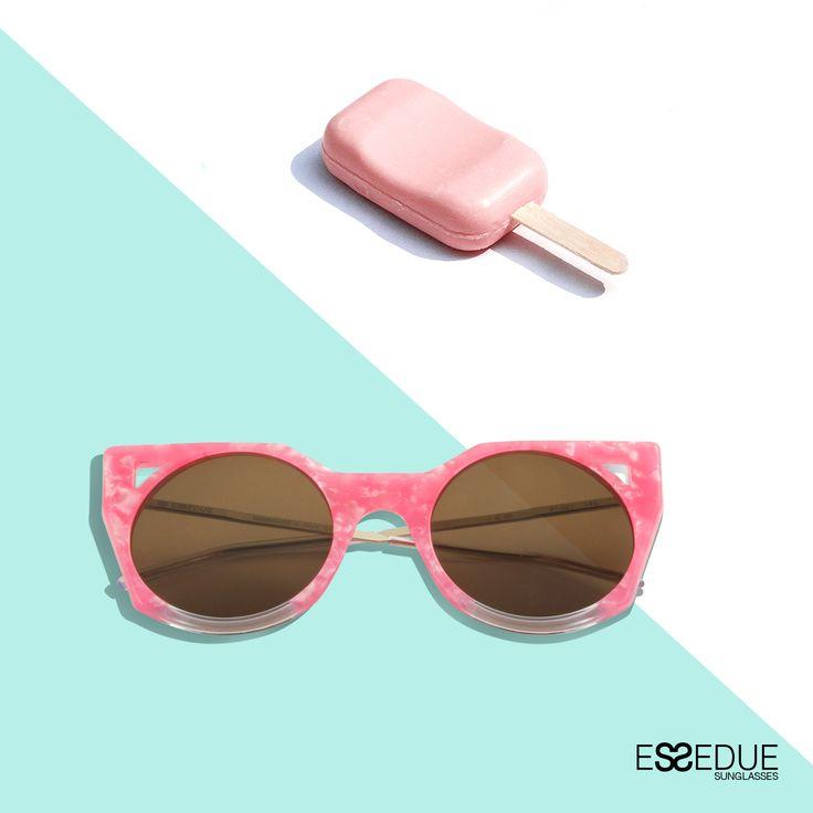 Cream ESSEDUE Pastel  #essedue #esseduesunglasses #sunglasses #icecream #summer