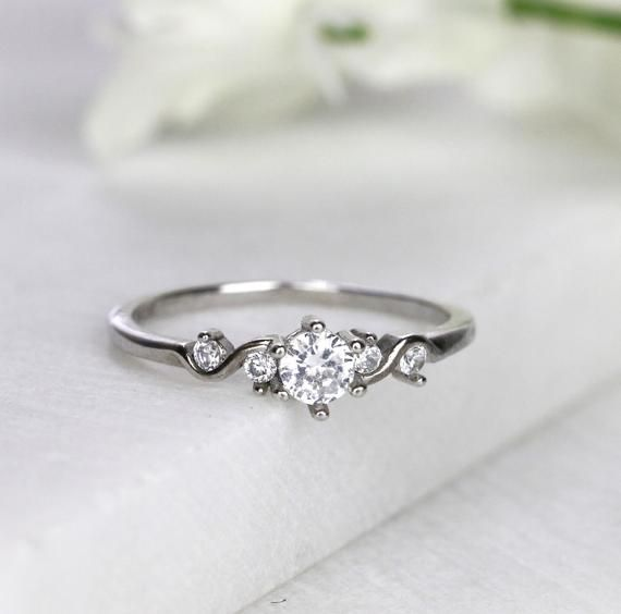 Valentine day Gift For her Delicate CZ Ring Forever Ring Marquise CZ Ring Everyday Dainty Jewelry Gold filled Engagement Ring