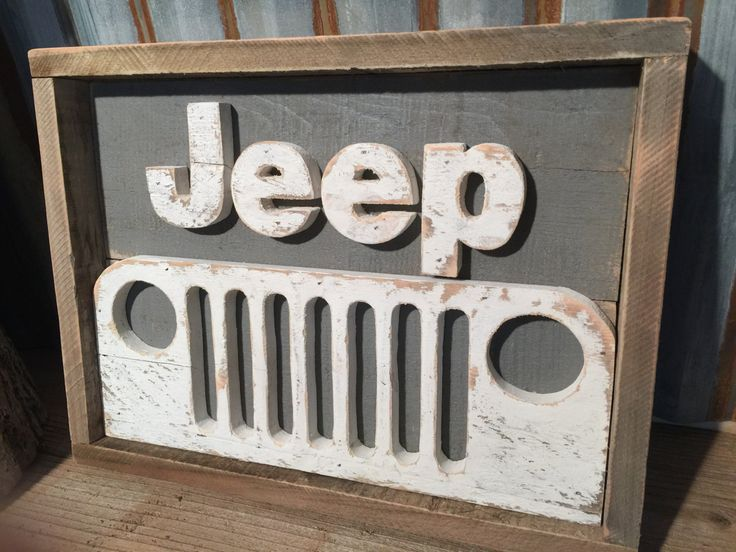 Rustic Pallet Jeep Decor | Ready to ship | Jeep Sign | Wood Sign | Jeep Grill | Wrangler | Jeep Art o|||||||o by R2KPallets on Etsy