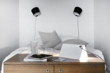 | Innolux, Pasila wall lamps by Juho Pasila and Beagle table lamp by Motto Wasabi group