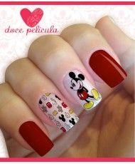 Películas ou Adesivos de Unhas Modelo Mickey