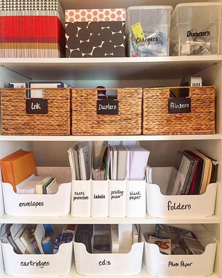 End The Week With An Organized Office All Supplies Categorized Organized Contained An Organizing Small Home Work Space Organization Home Office Organization