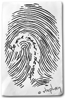Finger print with the words.... Something for my daughters with their prints