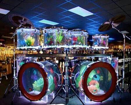 Drum set aquarium