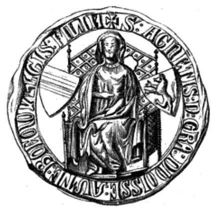 Anežka, dcera krále Přemysla Otakara II. a manželka švábského vévody Rudolfa II. Švábského