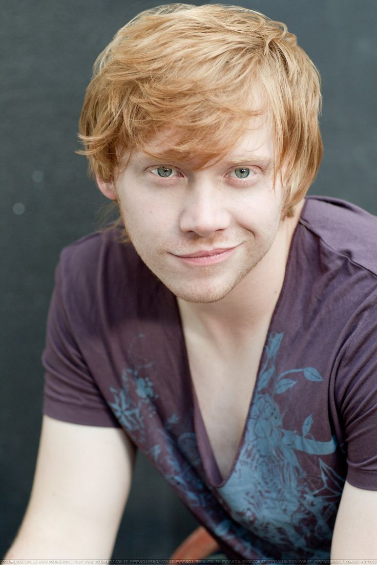 Rupert Grint :) What a cutie! I don't see why some people want Harry when they could have Ron... <3