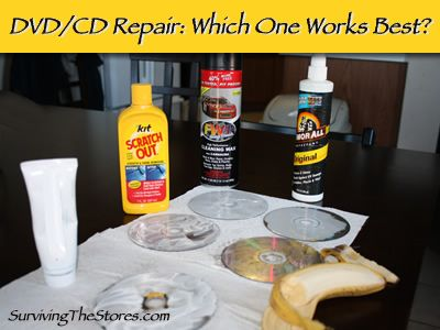 Can bananas get scratches out of DVDs & CDs?  What about Armor All?  Scratch Out that you use for cars?  Find out which method works best to get your movies and CDs working again!!