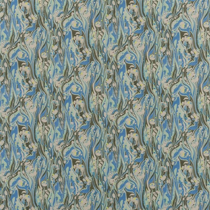 Delahaye Cobalt Fabric | Designers Guild