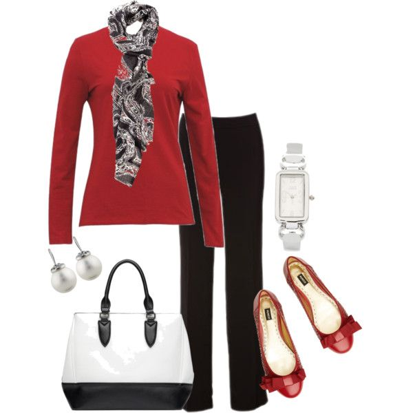 17 Best Images About Black And Red Outfits On Pinterest | Landu0026#39;s End Winter Travel And 10 Piece ...