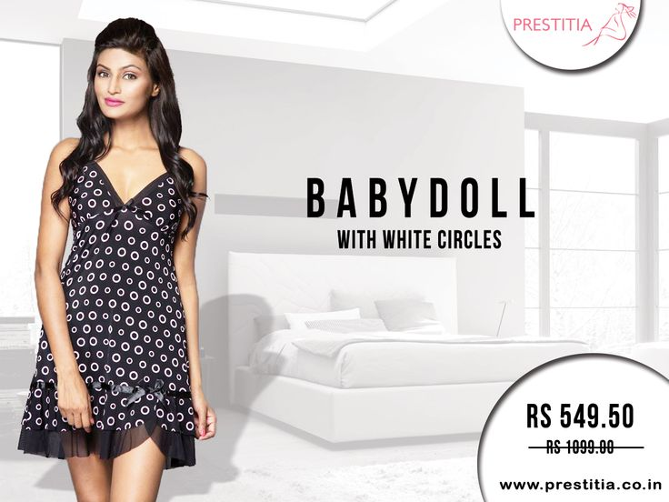 Get 50% off on stylish Babydoll, Sleep like a queen and grace with this sensual short night dress. Shop online on http://www.prestitia.co.in/products/night-wear.html