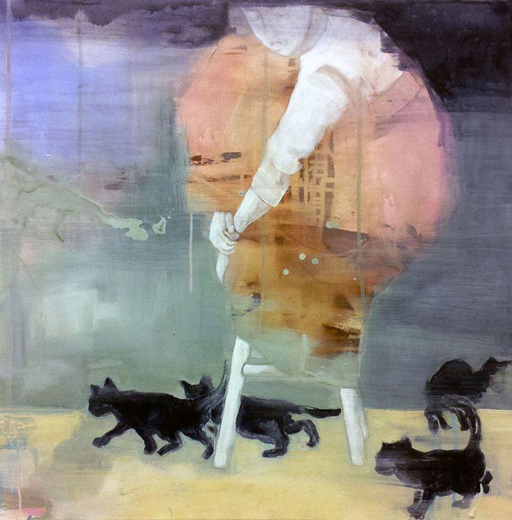 KATTUNGER BY ANNE-BRITT KRISTIANSEN  #fineart #art #painting #kunst #maleri #bilde  https://annebrittkristiansen.com/paintings/2013/