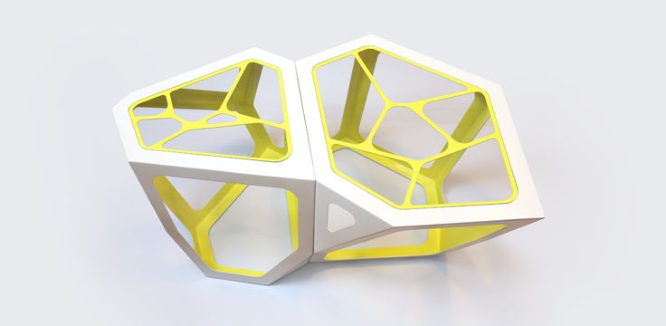 Simplexio Primo - coffee table white & yellow