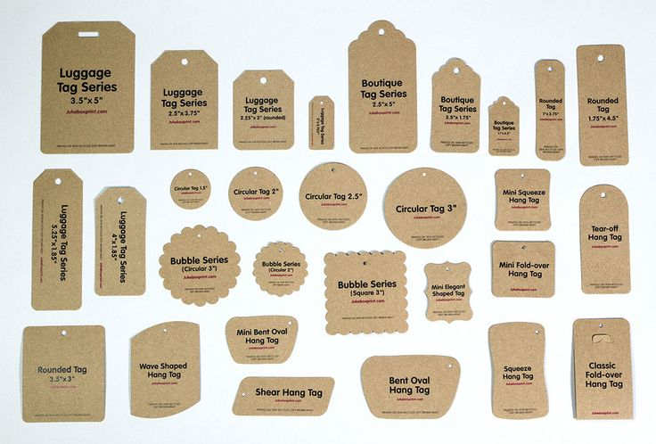 Hang Tags from Jukeboxprint.com - Luggage Tags Now Available