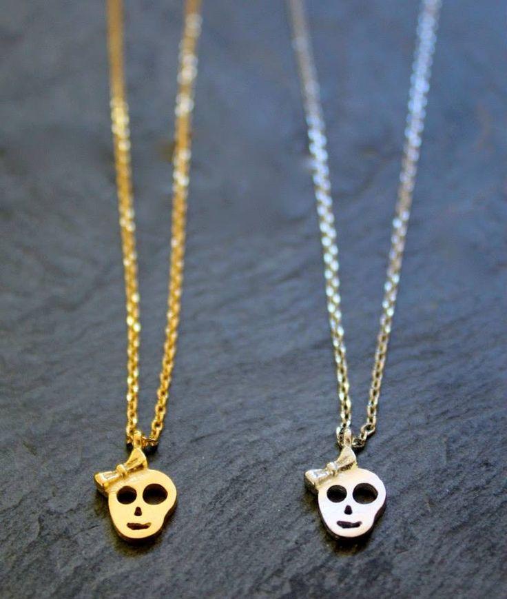 Girl skull Necklace