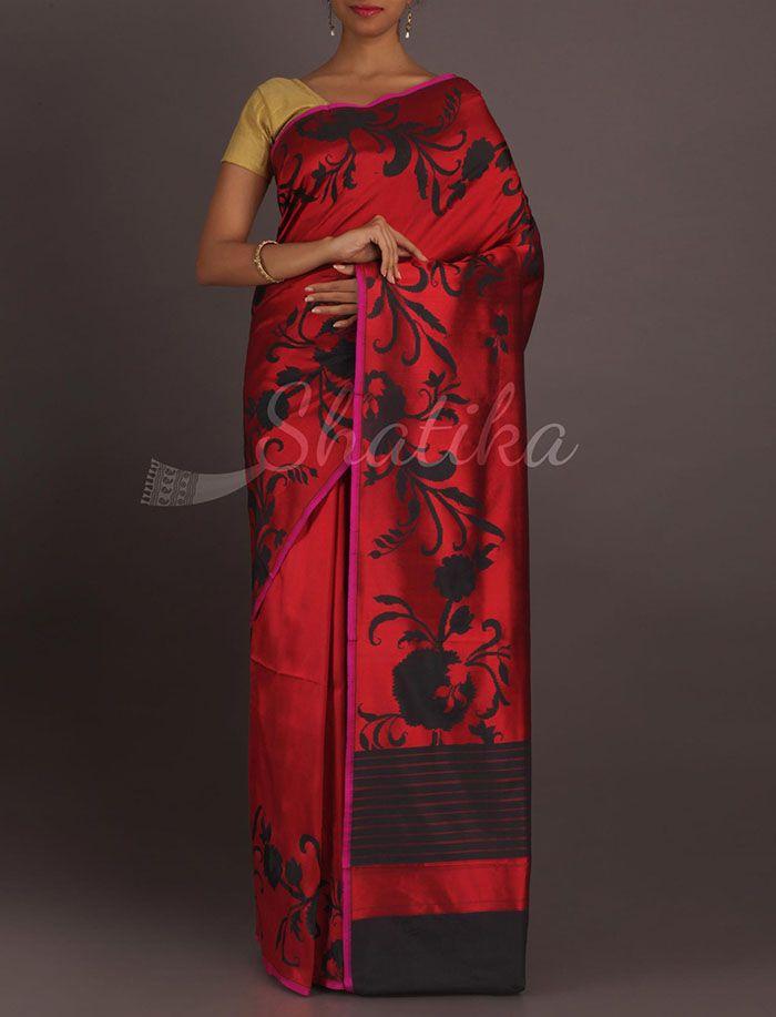 Rohini Shadow Of Bel Ravishing Red Classic Pure #KatanSilkSaree