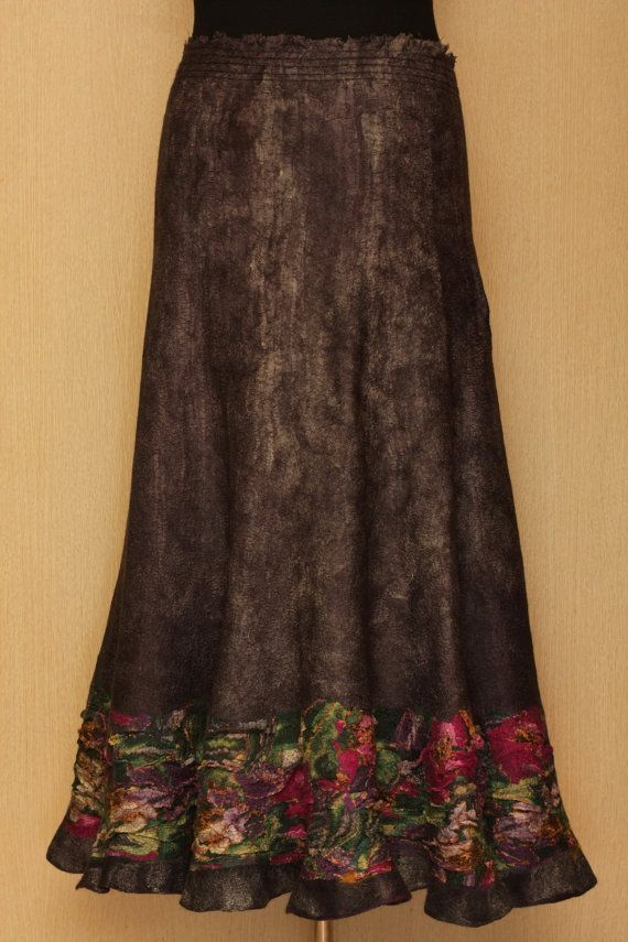 The Dancer Upstairs / Felted Clothing / Skirt by LybaV on Etsy, $350.00