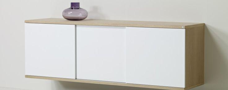 Tre hvide trælåger til skænken #733 - et modul i MODO serien. | Skovby Møbler
