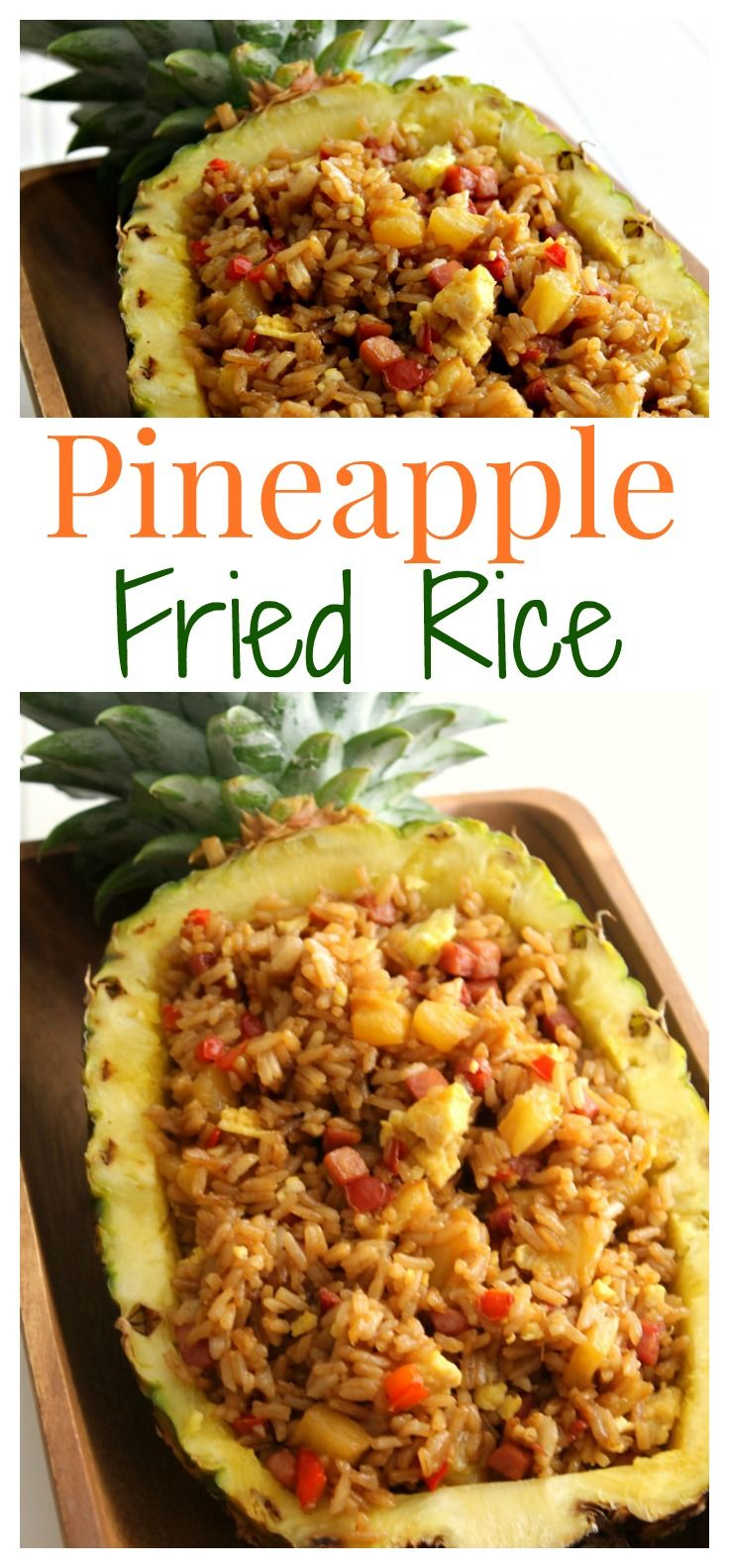 This fresh Pineapple Fried Rice recipe is a great way to celebrate the release of Disney's Moana. Ham, pineapple, and peppers are perfect compliments to each other in this yummy fried rice.